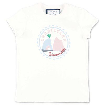Simonetta t-shirt bianca Chantecler in jersey di cotone