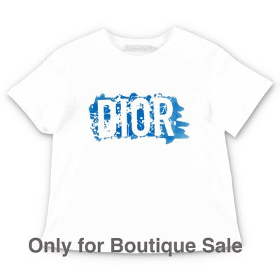 Baby Dior white cotton jersey t-shirt
