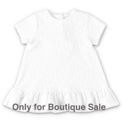 Baby Dior abito bianco in ciniglia di cotone