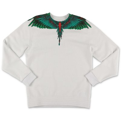 Marcelo Burlon white cotton ''Wings'' sweatshirt