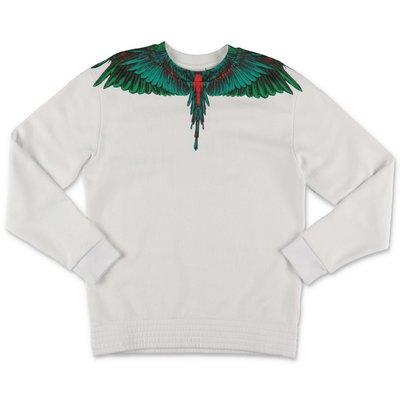 Marcelo Burlon white cotton ''Wings'' sweatshirt