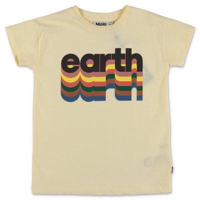 MOLO t-shirt gialla Robine in jersey di cotone organico