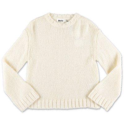 MOLO pullover bianco Gertina in maglia di misto alpaca