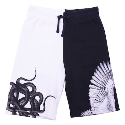 Black & white cotton Shorts