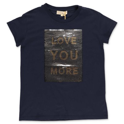 ELIE SAAB navy blue cotton jersey t-shirt