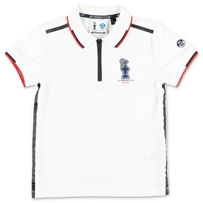 North Sails Prada white piquet polo