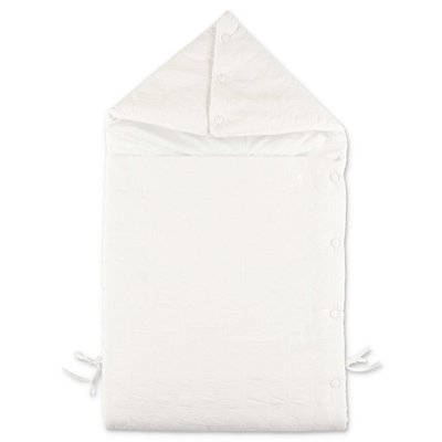 Baby Dior white padded cotton sleeping bag