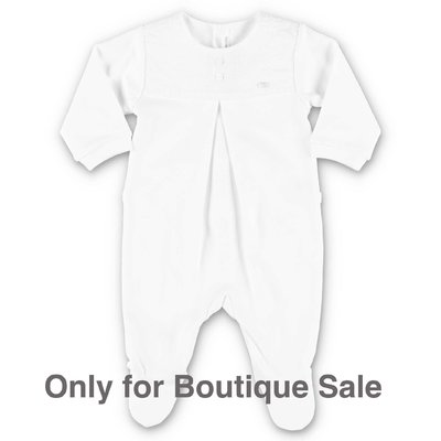 Baby Dior tutina bianca in jersey di cotone