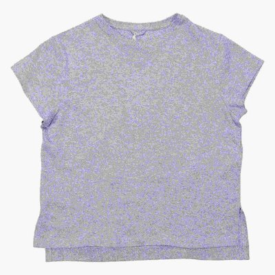 Shining silver cotton jersey t-shirt