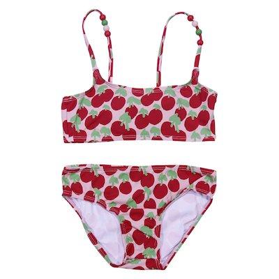 Cherry printed lycra bikini