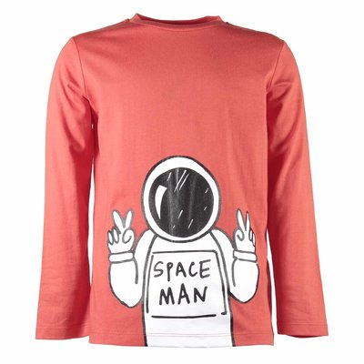 T-shirt rossa Spaceship in jersey di cotone