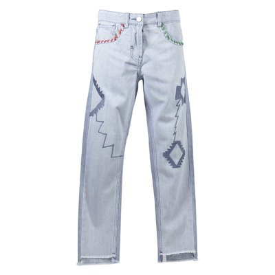 Light blue stretch denim cotton jeans
