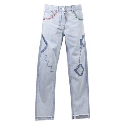Jeans blu chiaro in cotone denim stretch
