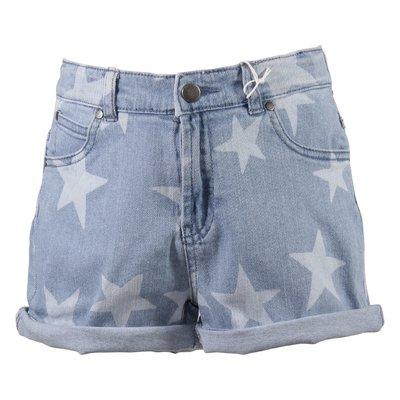Shorts denim blu chiaro in cotone