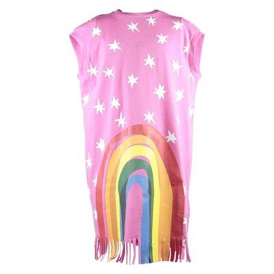 Abito fucsia Rainbow in jersey di cotone