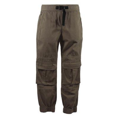 Khaki cotton cargo pants