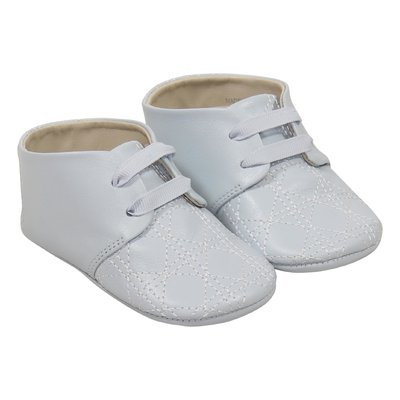 Sky blue leather prewalker shoes