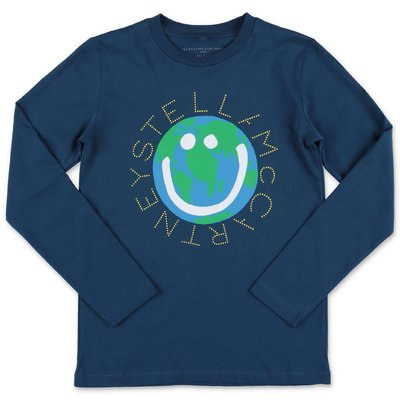 Stella McCartney t-shirt blu navy in jersey di cotone