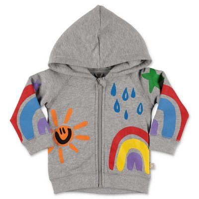 Stella McCartney melange grey cotton hoodie
