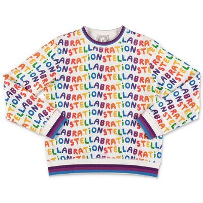 Stella McCartney white multicolor print cotton sweatshirt