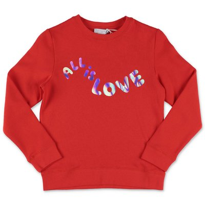 Stella McCartney red cotton sweatshirt
