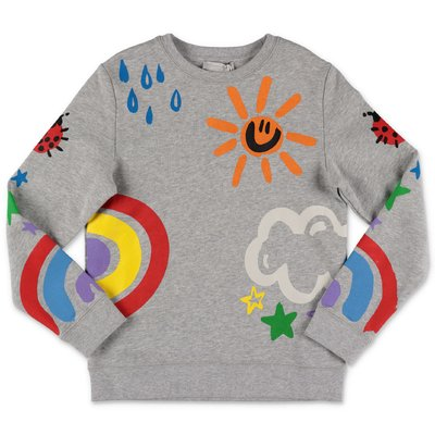 Stella McCartney melange grey cotton sweatshirt