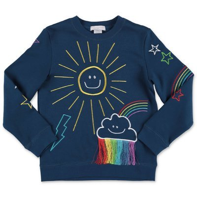 Stella McCartney navy blue cotton sweatshirt