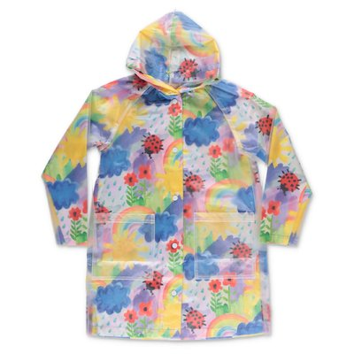 Stella McCartney multicolor raincoat with hood