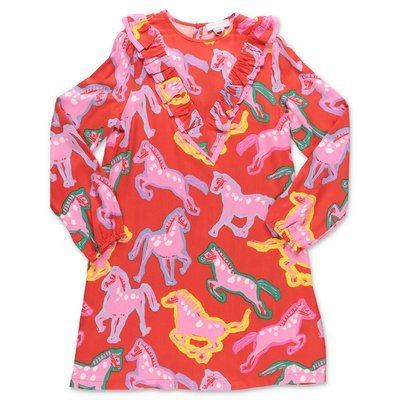 Stella McCartney printed red viscose dress