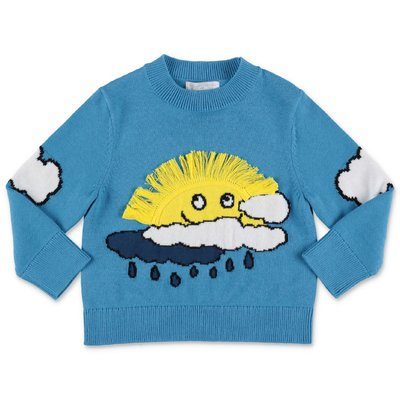 Stella McCartney blue cotton & wool knit jumper