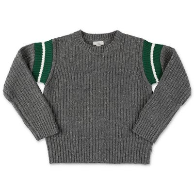 Stella McCartney grey wool blend knit jumper