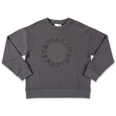 Stella McCartney dark grey logo detail cotton sweatshirt