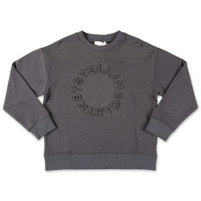Stella McCartney felpa grigio scuro in cotone con logo