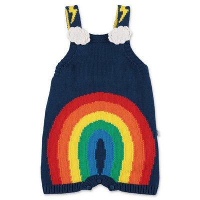 Stella McCartney blue cotton & wool knit overalls