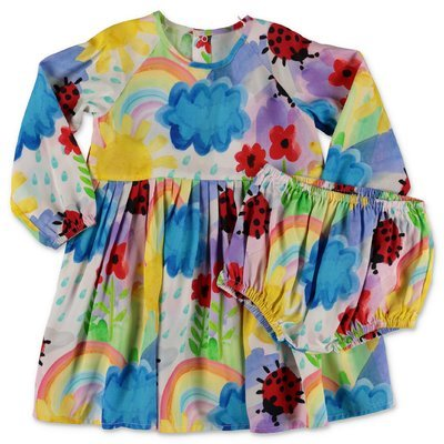 Stella McCartney multicolor floral print dress and coulottes
