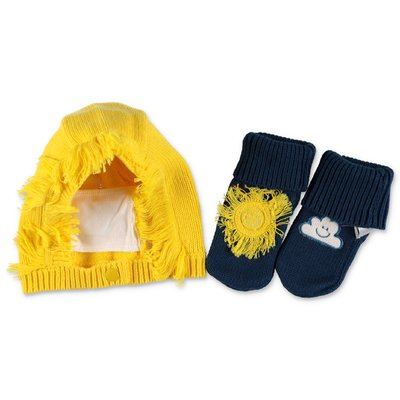 Stella McCartney cotton & wool set with hat & prewalker shoes