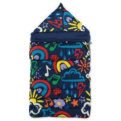 Stella McCartney blue nylon sleeping bag
