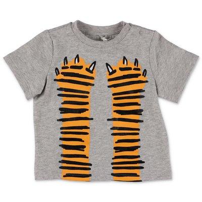 Stella McCarrtney melange grey cotton jersey t-shirt