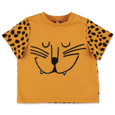 Stella McCartney t-shirt arancio in jersey di cotone