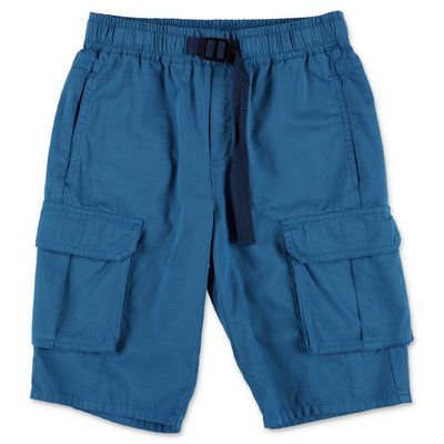 Stella McCartney shorts blu in gabardina di cotone