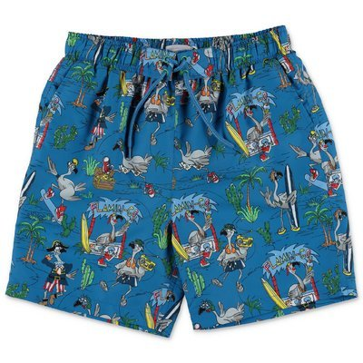 Stella McCartney costume shorts da mare blu in nylon