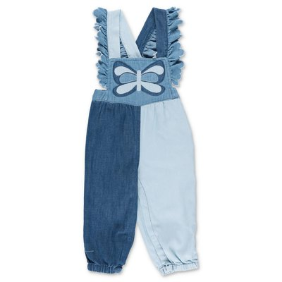 Stella McCartney blocking color cotton denim overall