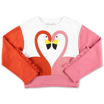 Stella McCartney color block cotton sweatshirt