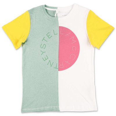 Stella McCartney t-shirt color block in jersey di cotone