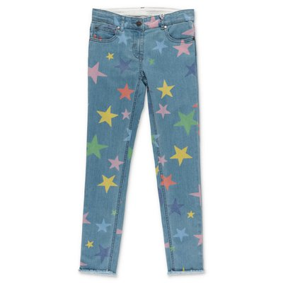 Stella McCartney jeans blu in denim di cotone stretch