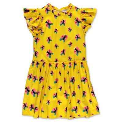 Stella McCartney yellow cotton poplin dress