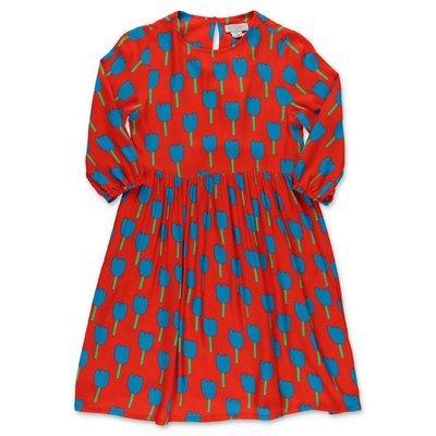 Stella McCartney abito rosso stampato in viscosa