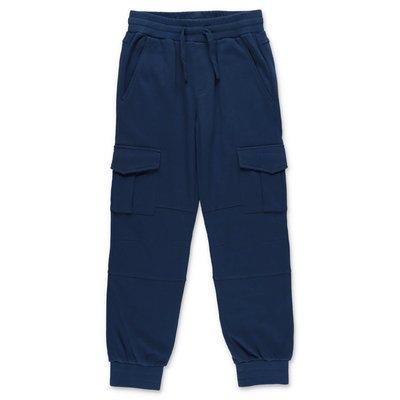 Stella McCartney pantaloni blu in felpa di cotone