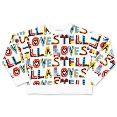 Stella McCartney felpa multicolor stampata in cotone