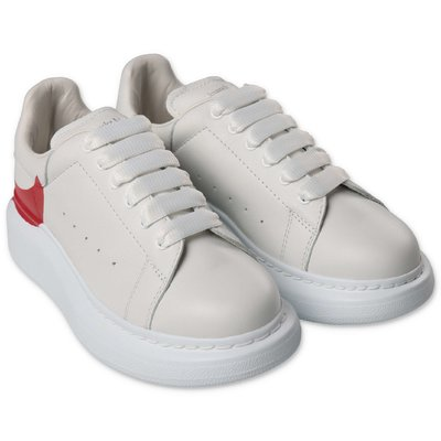 Alexander McQueen white leather sneakers with laces